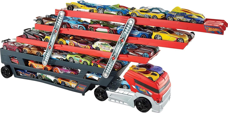 MATEL Hot Wheels CKC09 Mega Hauler Truck Up to 50 Cars Loading