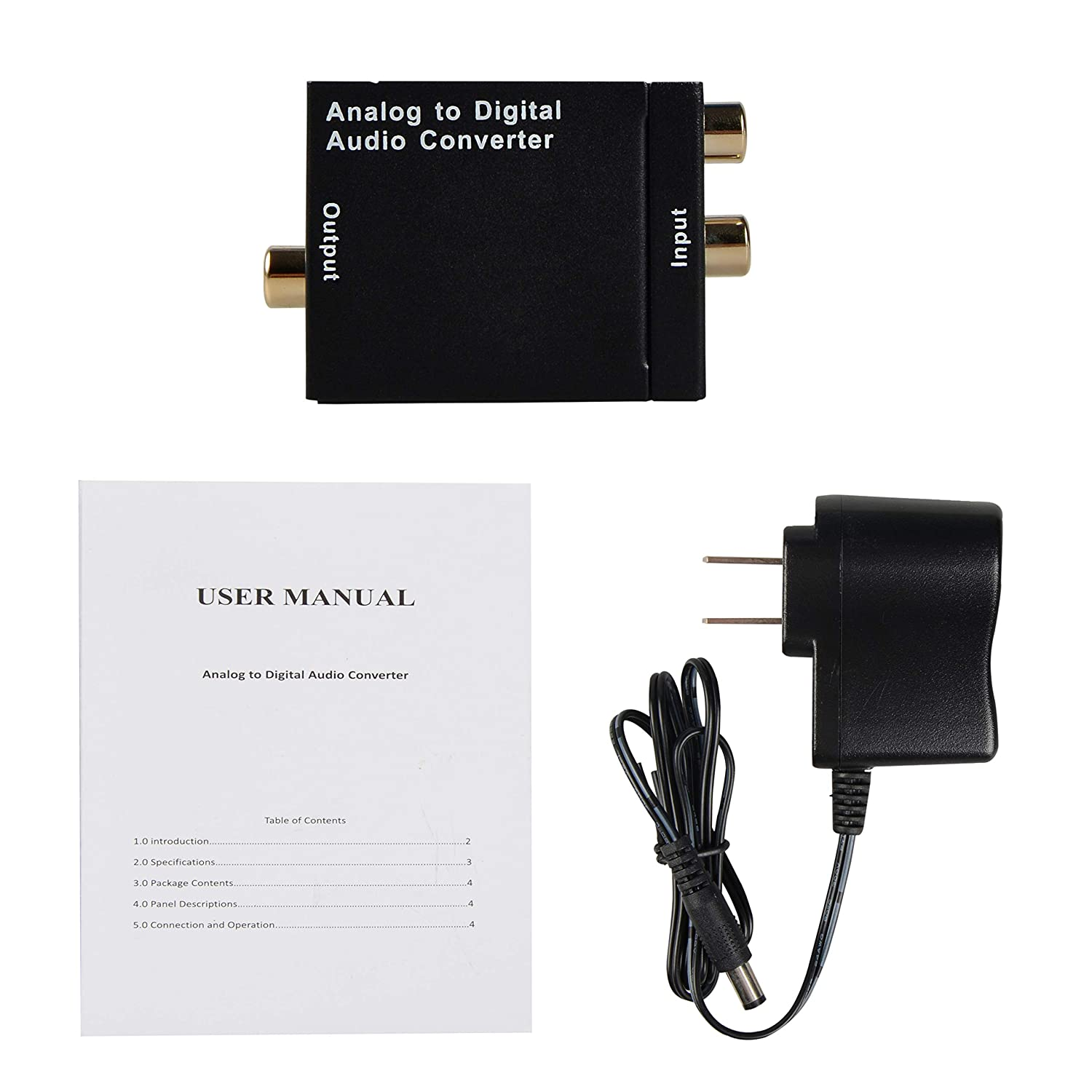 Avedio Links Analog To Digital Audio Converter Adapter 3 4p 5mm Plug Wiring Computers Accessories