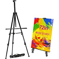 "FUDESY 72"" /183cm Easel Stand,Extra Sturdy Black Aluminum Metal Display Easel Artist Easel Tripod Adjustable Height from…"