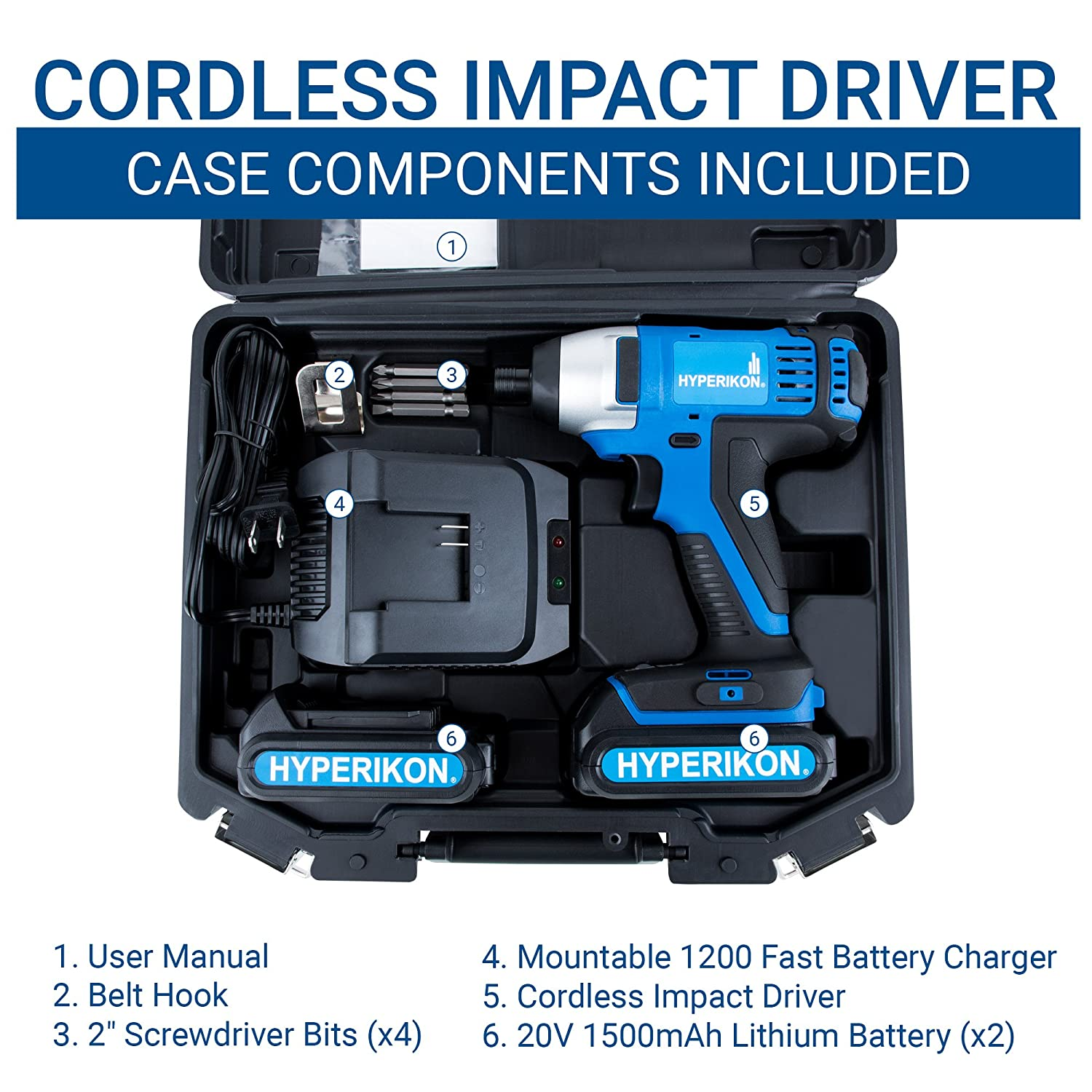 Hyperikon Electric Power Drill Lithium 12V with Driver Set and Project Kit 3//8 Keyless Chuck Small Cordless Drill Hyperikon Inc.