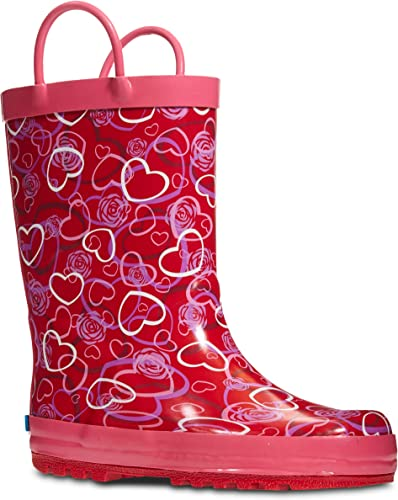Storm Kidz Kids Girls Printed Rainboots Assorted Prints Toddler//Little Kid//Big Kid Sizes