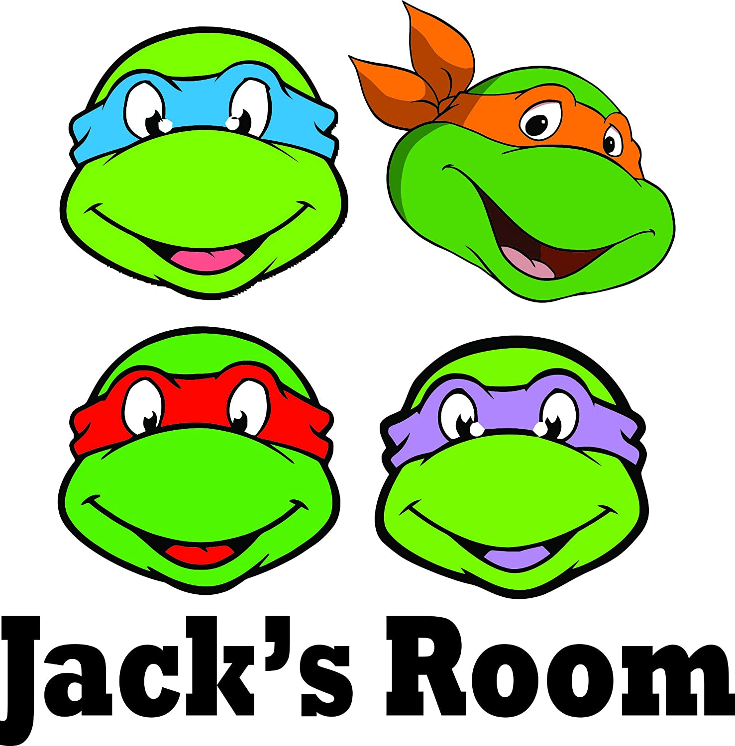 Amazon.com: Personalized Names Custom Name 4 Ninja Turtles ...