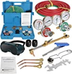 ZenStyle Oxygen & Acetylene Gas Cutting Torch and Welding Kit Portable