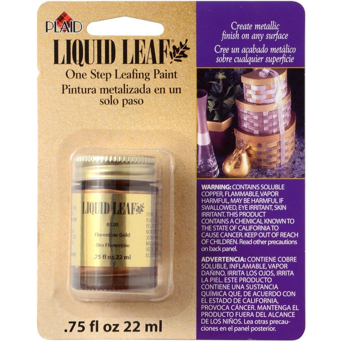 Liquid Leaf Restoring Metallic Paint Florentine Gold 3/4 Oz