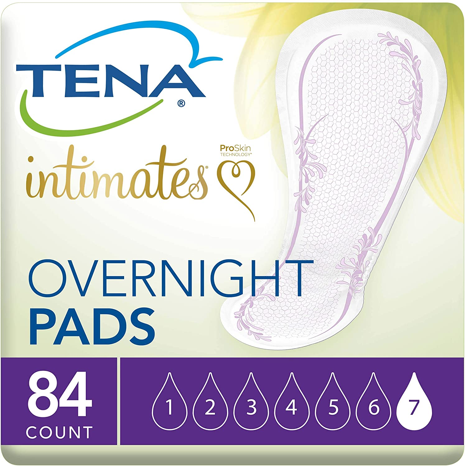 Tena Intimates Overnight Pads, 28 Count (Pack of 3)