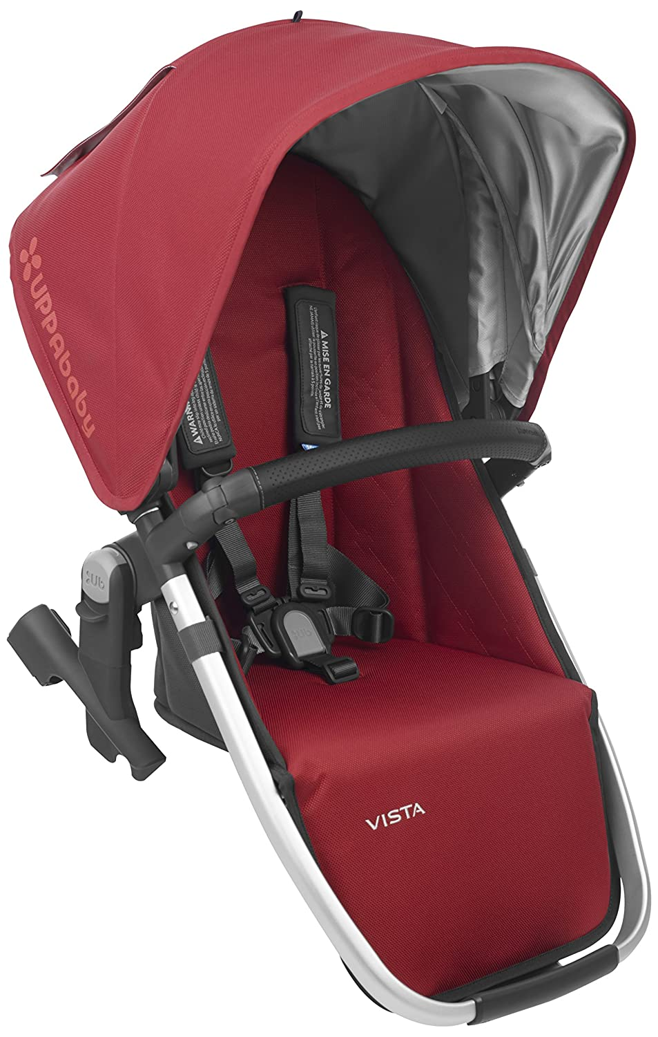 2018 UPPAbaby Vista RumbleSeat -Denny (Red/Silver/Black Leather) 81p6xaZRQyL._SL1500_