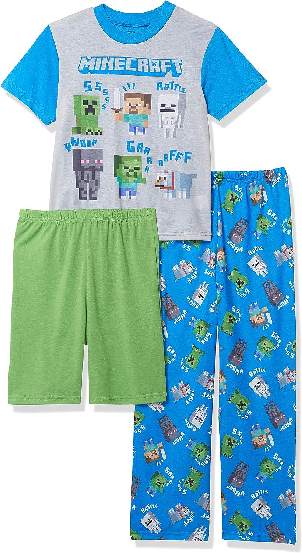 Minecraft Boys 3-Piece Pajama Set