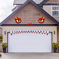 Happy Storm Halloween Garage Door Decorations Monster Garage Door Decoration Halloween Decorations for Garage Door Archway Door Decor Halloween Outdoor Decor Supplies