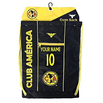 Club America Cinch Bag Sack Mexico Backpack Book bag Add Your Name and Number