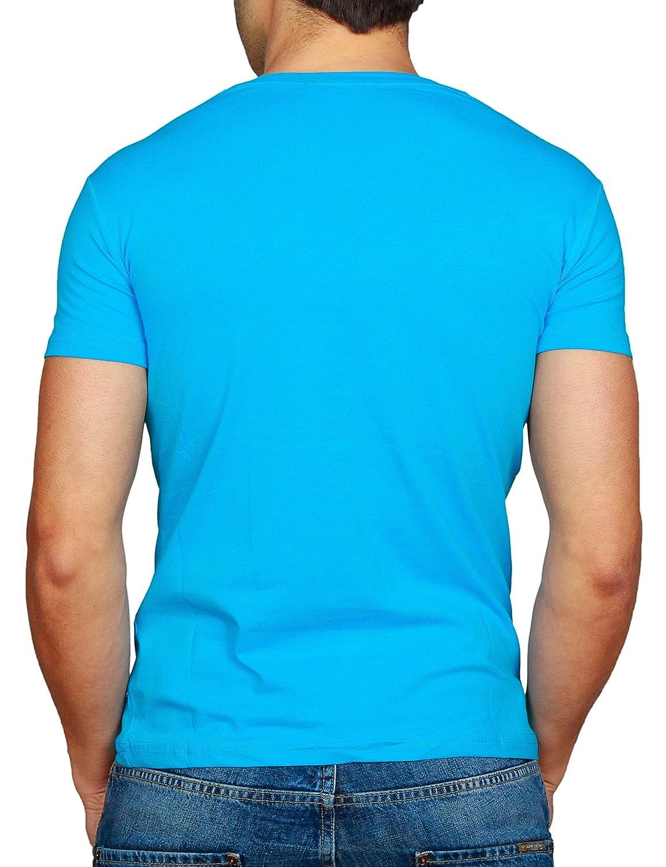 c24a6a1ac83e6f Young Rich Herren T-Shirt Slimfit Tiefer V-Ausschnitt Deep in verschiedenen  Farben und Übergrößen  Amazon.de  Bekleidung