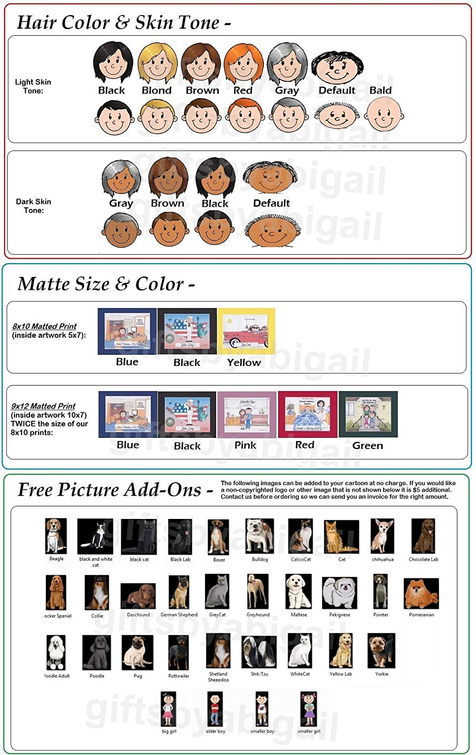 9x12 Magnet or Keychain CPA Personalized Gift Custom Cartoon Print 8x10