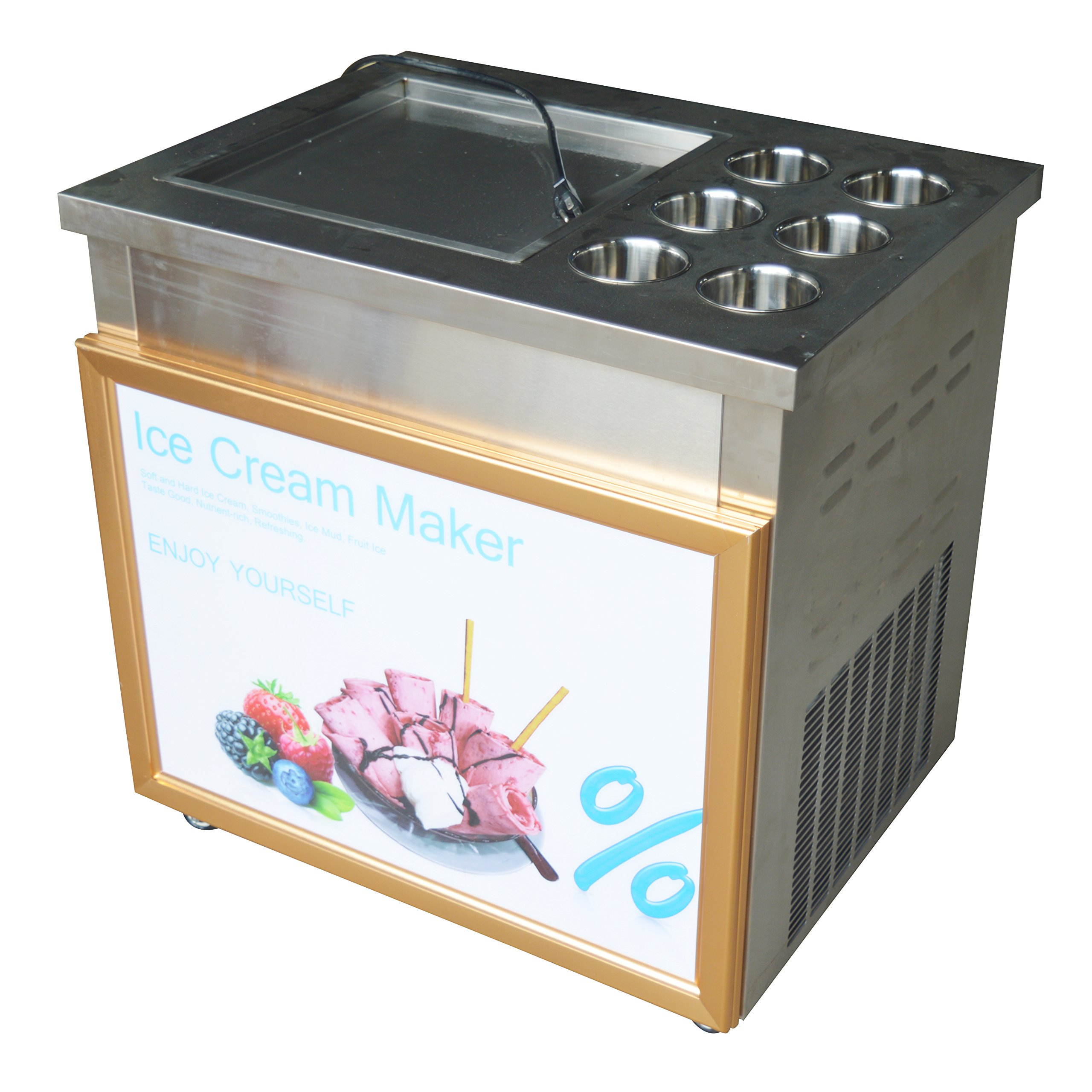 Ice Cream Maker Fried Ice Cream Machine 110V With Dust cover