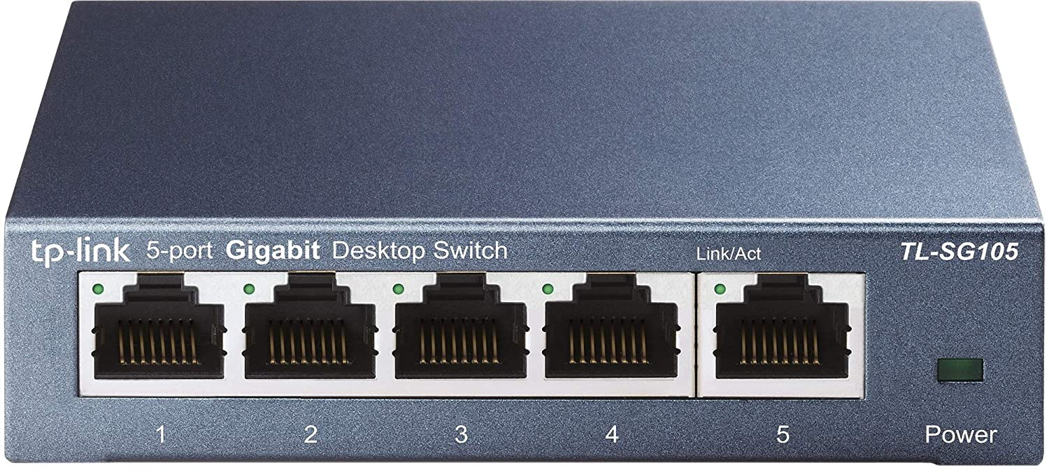 TP-Link 5 Port Gigabit Ethernet Network Switch | Ethernet Splitter | Sturdy Metal w/ Shielded Ports | Life Time Warranty| Plug-and-Play | Traffic Optimization | Unmanaged (TL-SG105)