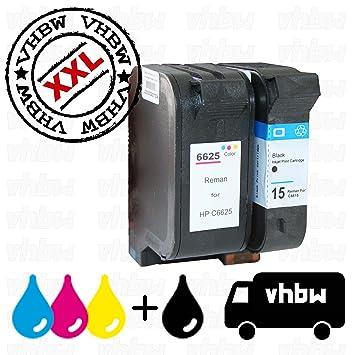 2X Cartucho de Tinta Compatible vhbw Set para Impresora HP ...