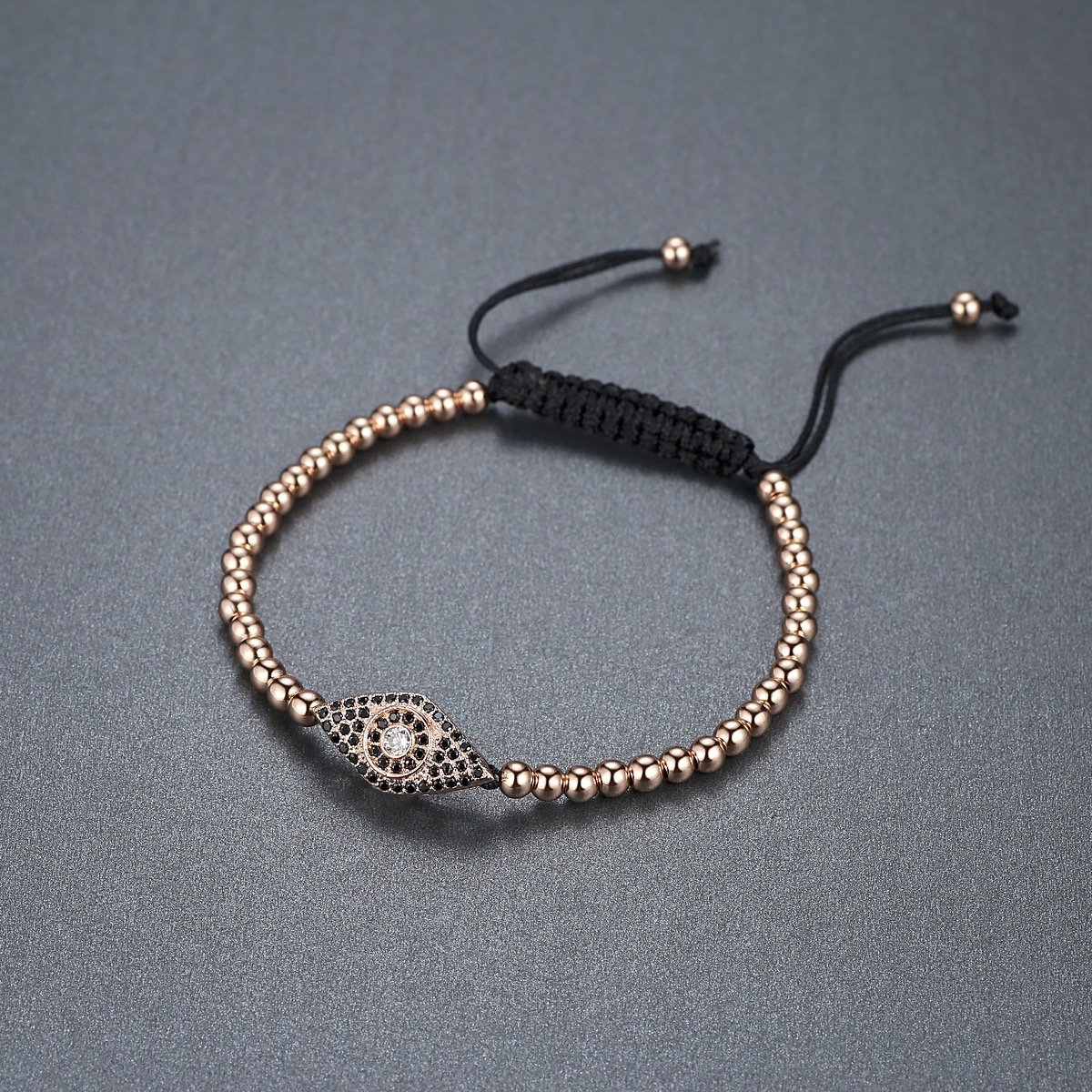 Aoiy Womens Stainless Steel Beads with Cubic Zirconia Bracelet