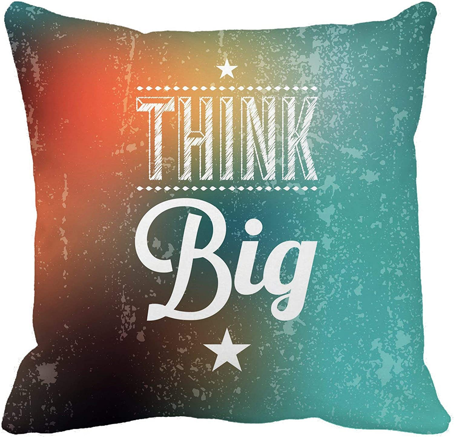 Awowee Throw Pillow Cover Colorful Word Abstract Typographical Quote Think Big Marketing Hipster 18x18 Inches Pillowcase Home Decorative Square Pillow Case Cushion Cover Amazon Co Uk Kitchen Home
