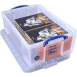 Really Useful Kunststoff-Aufbewahrungsbox leicht robust stapelbar 50 Liter 440 x 710 x 230 mm transparent