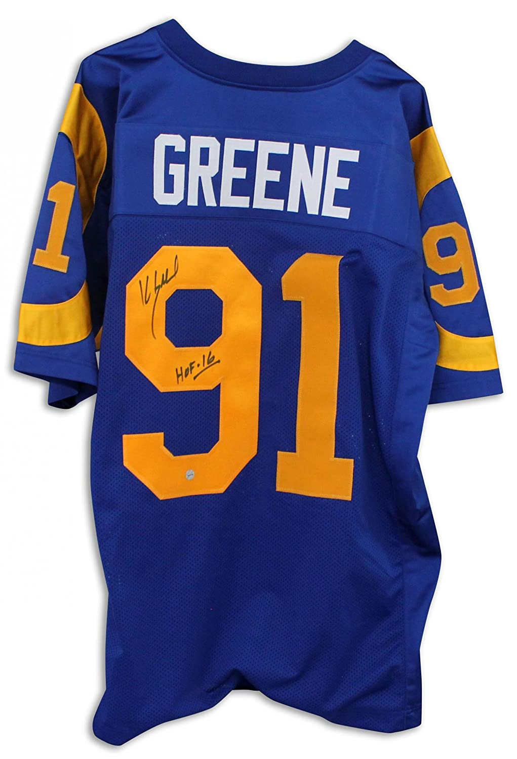 new style 731d2 1a2ec Kevin Greene Los Angeles Rams Autographed Blue Jersey ...