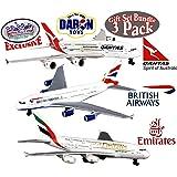 Daron Emirates A380 Qantas A380 & British Airways A380 Die-cast Planes Matty's Toy Stop Exclusive Gift Set Bundle - 3 Pack