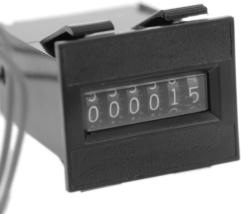 BU073 Contador de impulsos y eventos electromagn/éticos de 6 d/ígitos BeMatik