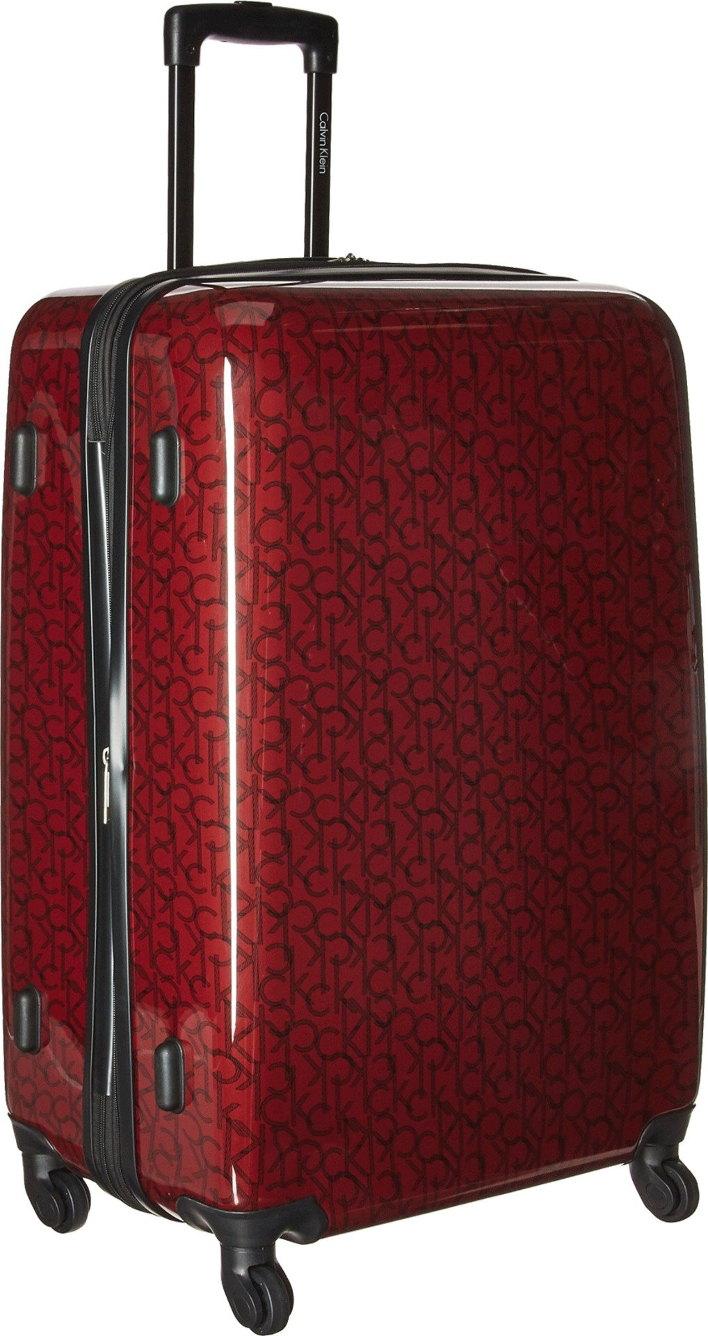 Calvin Klein Unisex CK-510 Signature Hardside 28'' Upright Suitcase Burgundy One Size
