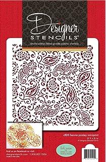 Amazon Com Designer Stencils C465 Paisley Cake Stencil Side Beige
