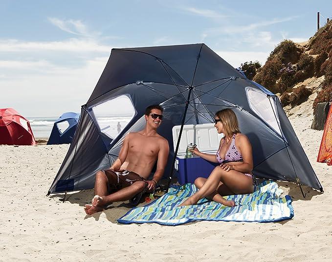 604528277250 Amazon.com: Sport-Brella Super-Brella SPF 50+ Sun and Rain Canopy Umbrella  for Beach and Sports Events (8-Foot, Blue): Sports & Outdoors