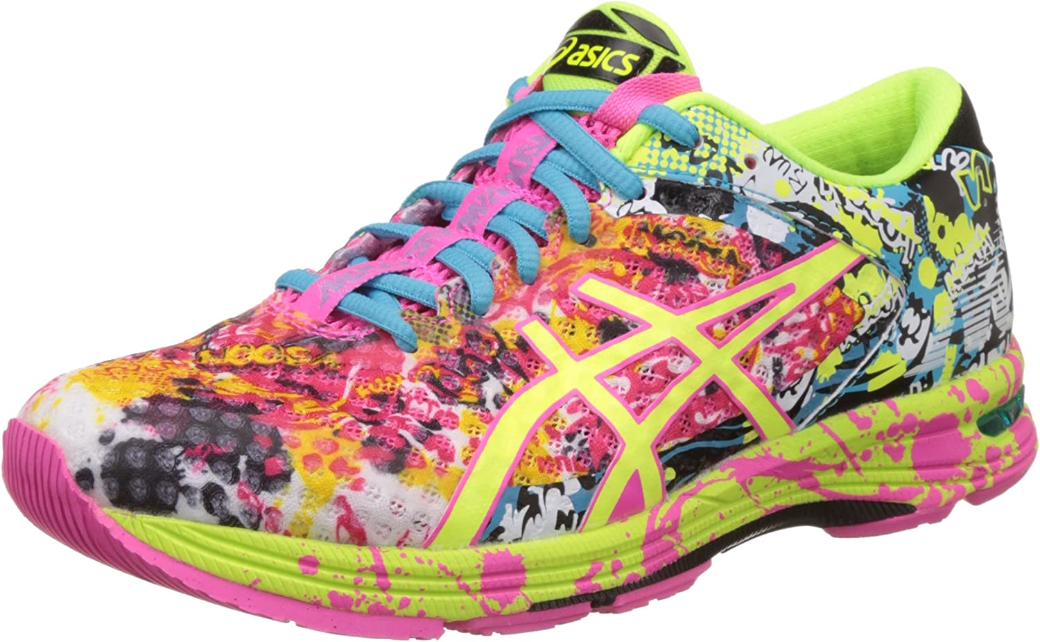 ASICS Womens Gel-Noosa Tri 11 Hot Pink, Flash Yellow and Black Running Shoes -7 UK/India (40.5 EU)(9 US): Amazon.es: Zapatos y complementos