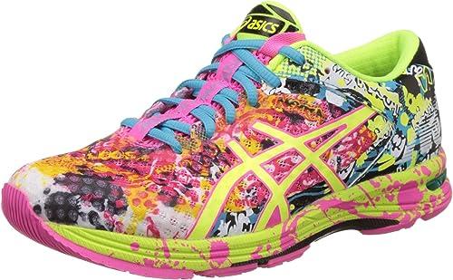 ASICS Women's Gel Noosa Tri 11 Hot Pink, Flash Yellow And