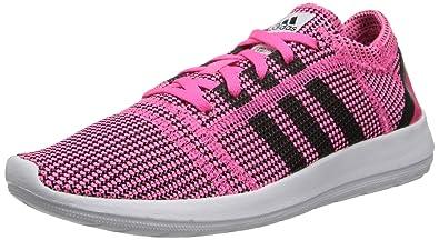 adidas Element Refine Tricot Running Sneaker Shoe - Neon Pink/Running  White/Black -