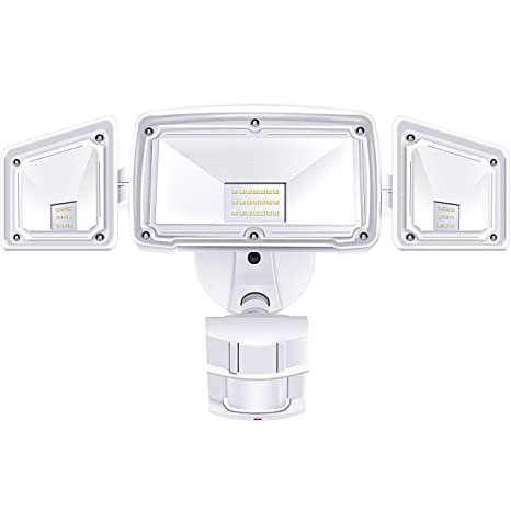 3 Head LED Security Lights Motion Outdoor Motion Sensor Light Outdoor Ace Security Motion Sensor Light Wiring Diagram on
