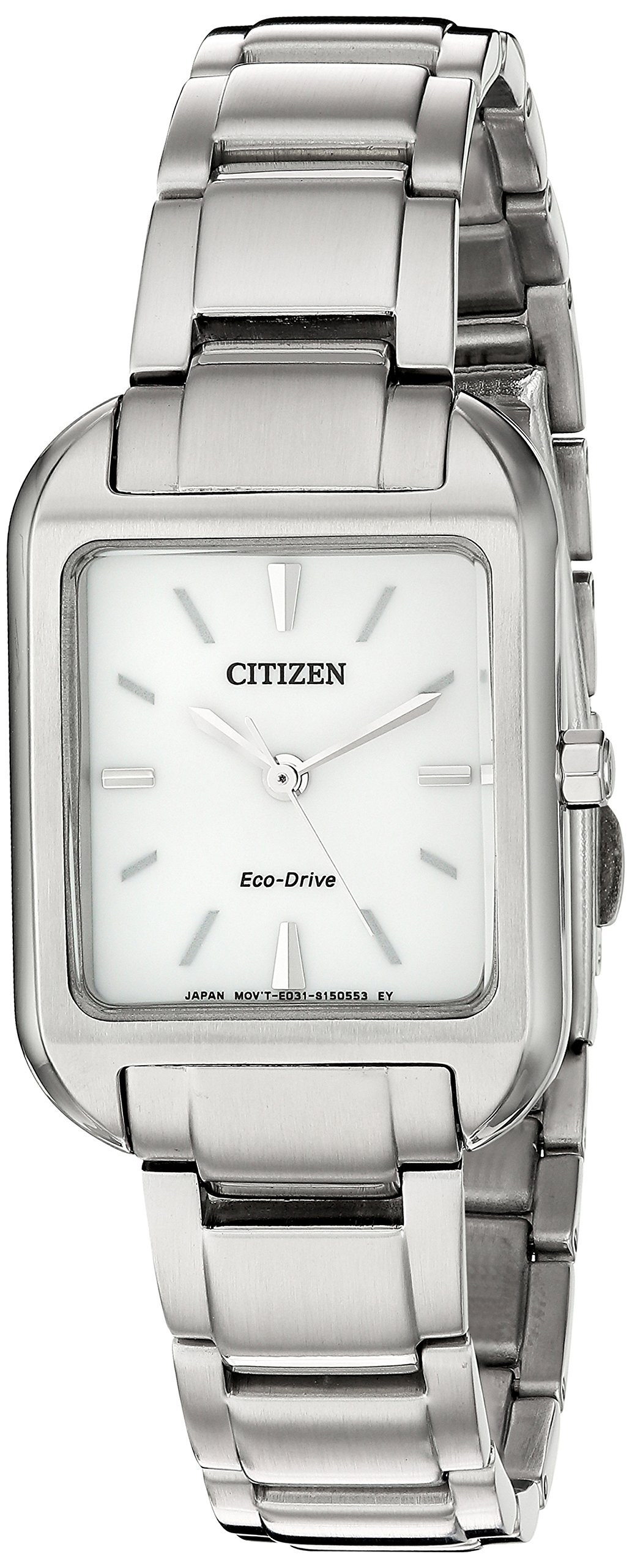 Citizen Women's 'Silhouette' Quartz Stainless Steel Casual Watch, Color:Silver-Toned (Model: EM0490-59A)
