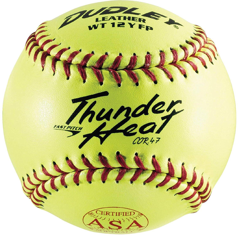 Dudley 12 Yellow ASA .47 Cor Fastpitch Softball Renewed Dozen