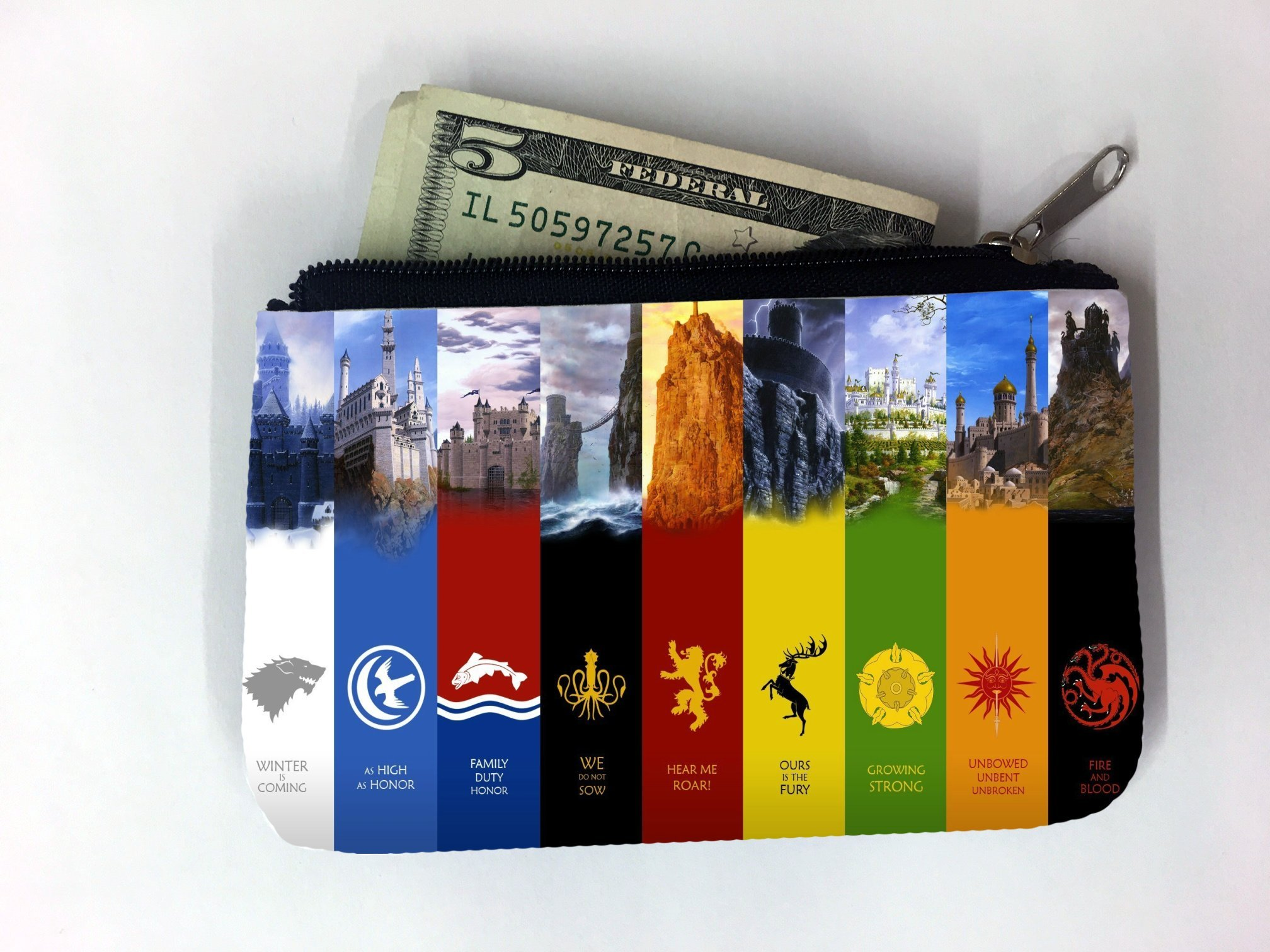 Royal Families of GoT Design Coin Purse Change Holder by MWCustoms