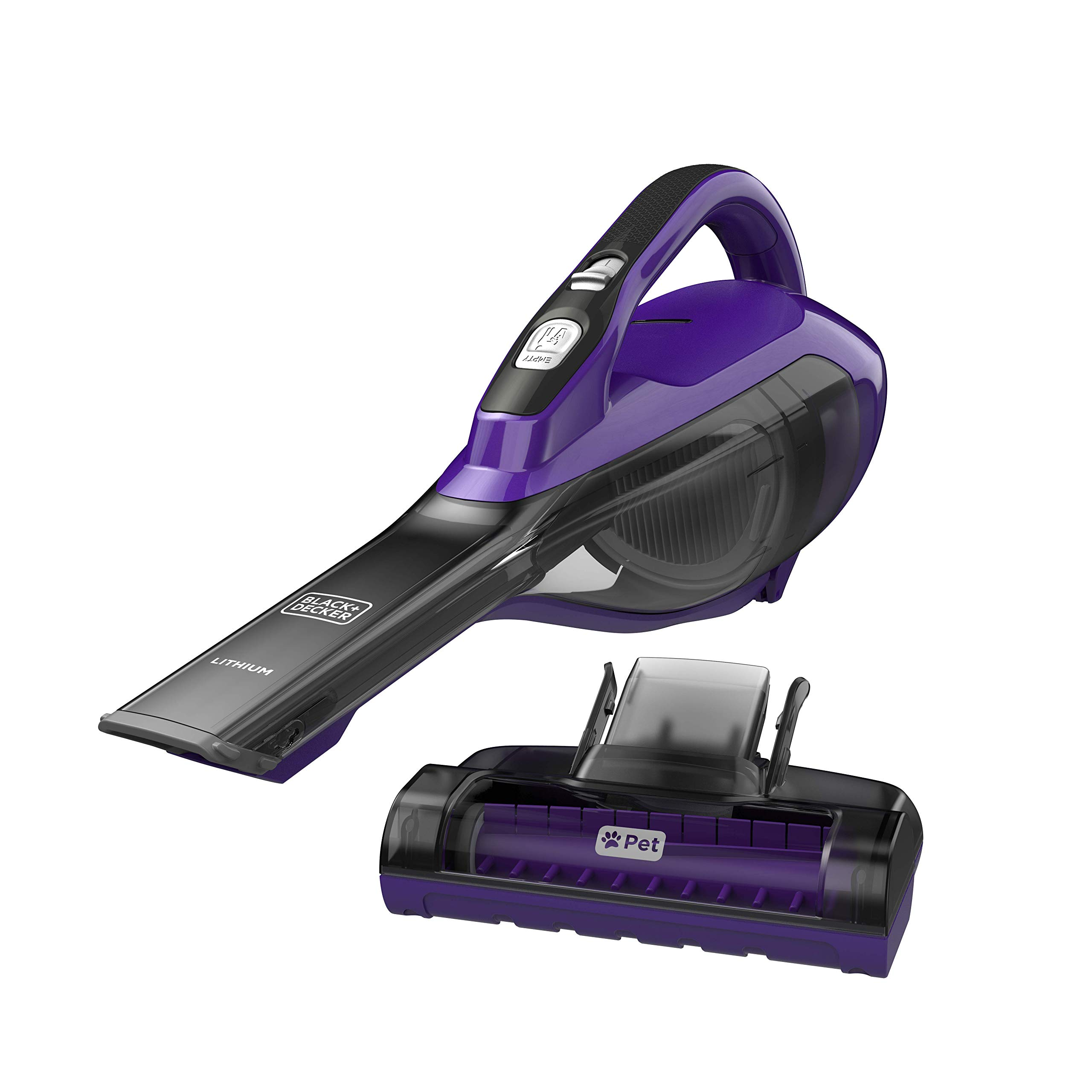 BLACK+DECKER HLVA325JP07 Lithium Pet Hand Vacuum, Purple, Pet Purple