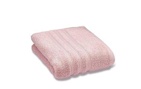 Catherine Lansfield Zero Twist – Toalla de baño grande, algodón, rosa