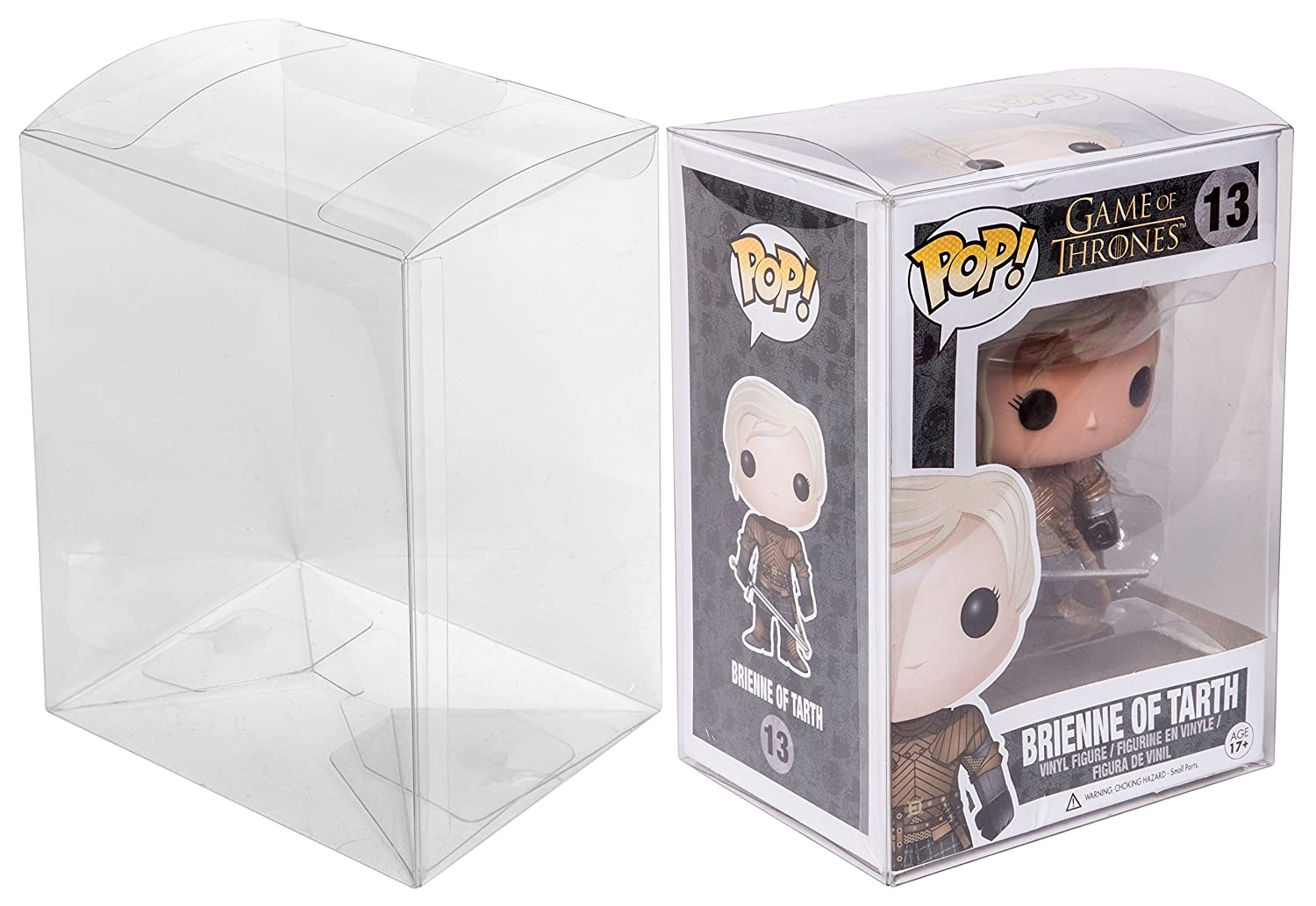 Red Co. 20 Pack Clear Protectors Acid-Free Soft Plastic Protective Case, Compatible with Funko POP! Standard 4 Inch Vinyl Figures 43194-HZN