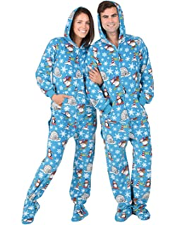 cb9349169f Amazon.com  Footed Pajamas - Winter Wonderland Toddler Hoodie Fleece ...