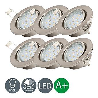 Lámpara LED de techo I Ø 86 mm I Foco LED empotrable I Marco redondo I ...