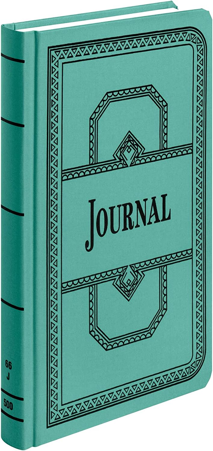 "Boorum & Pease 66 Series Account Book, Journal Ruled, Green, 500 Pages, 12-1/8"" x 7-5/8"" (66-500-J)"