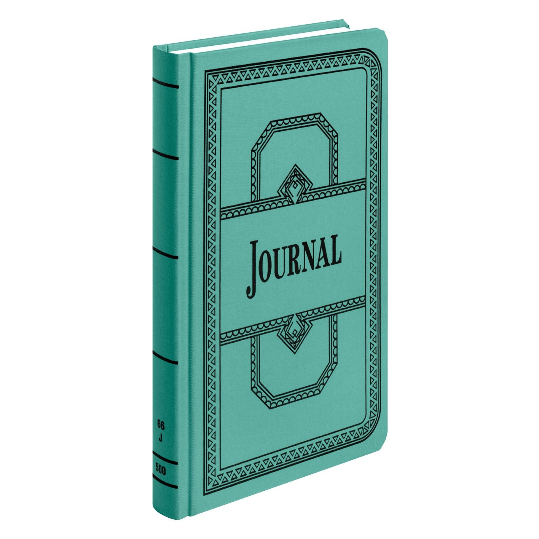 Boorum & Pease 66 Series Account Book, Journal Ruled, Green, 500 Pages, 12-1/8'' x 7-5/8'' (66-500-J)