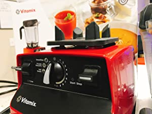 Vitamix 6500 Improved 6300 More Powerful, Fits Under Cabinet Model, Featuring 3 Pre-Programmed Settings, Red