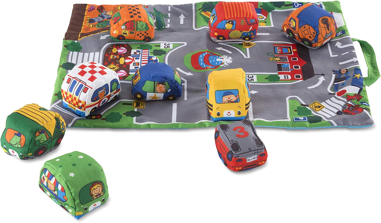 Amazon Com Melissa Doug Take Along Town Play Mat Toy Toys Games