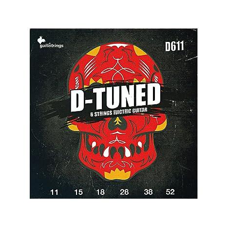 D611 D-TUNED Gallistrings 6-cuerdas para guitarra eléctrica (, 011 -,