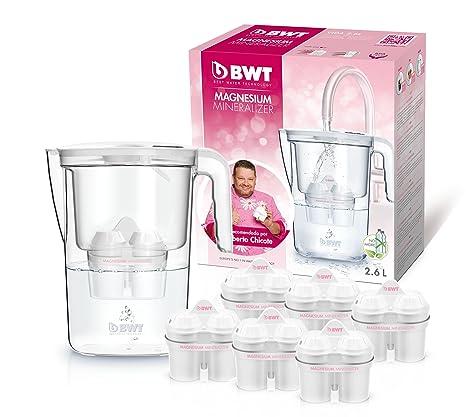 BWT Vida Manual – Jarra filtradora de agua con magnesio + Pack 6 filtros jarra de