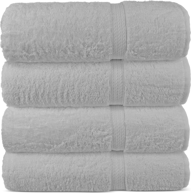 Set of 6, Gray Chakir Turkish Linens Long-Staple Turkish Cotton Hand Towel