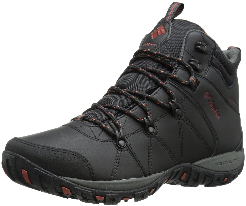 Columbia Peakfreak Venture Mid Waterproof Omni-H - Zapatillas de Trekking y Senderismo de Piel Hombre 43.5 EU Negro (Black, Sanguine 010)