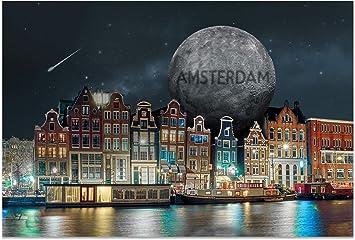Stars I Ansichtskarten Postcrossing stadtecken® Postkarten AMSTERDAM Motiv
