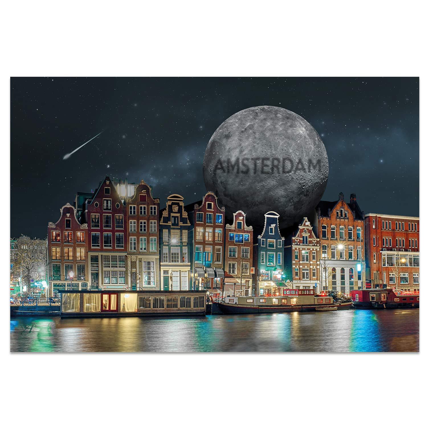 DIN A6 AMSTERDAM Motiv Lovely Amsterdam I stadtecken I Hochwertige Ansichtskarten I Leben /& Momente Lustig I Postkarten Postcrossing I Geschenk I Geschenkidee Postkarten +