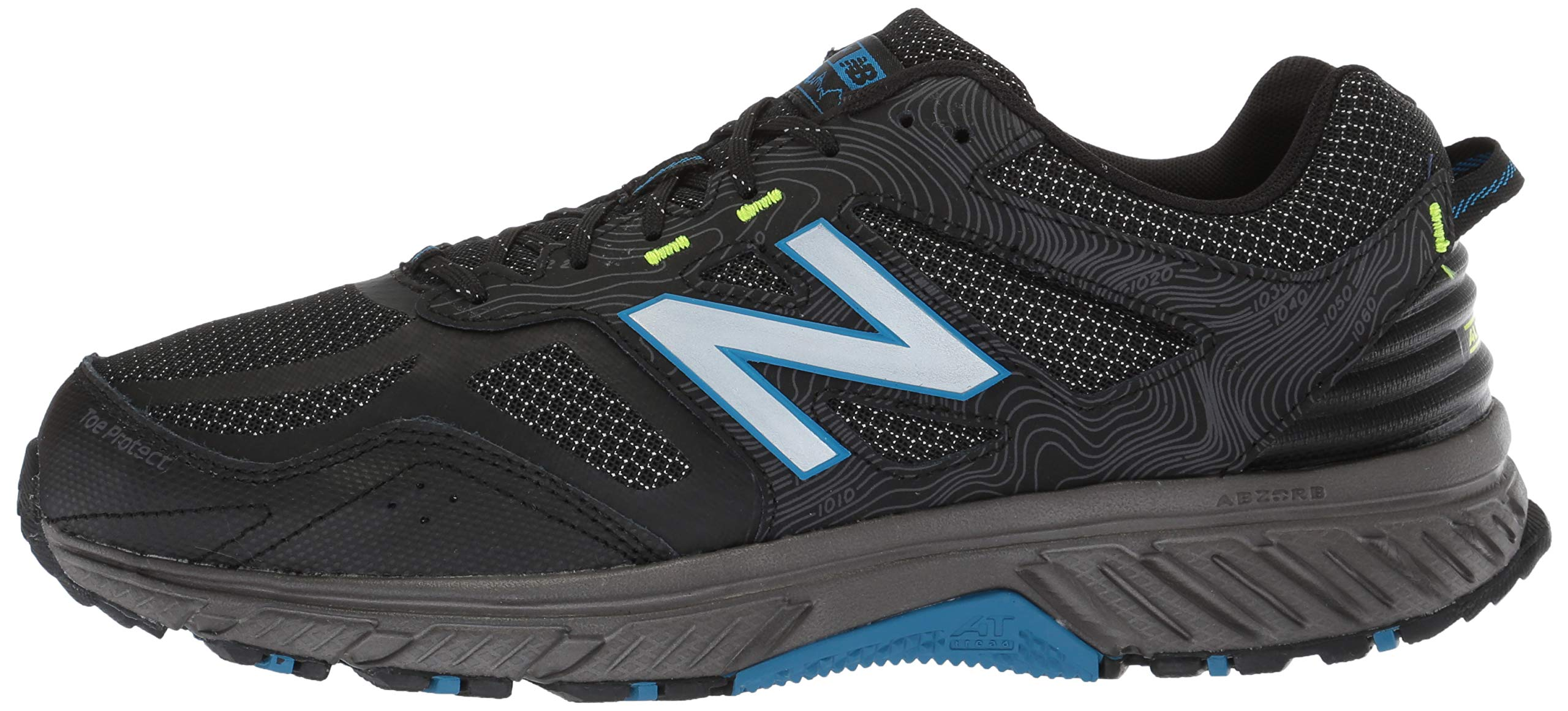 New Balance Men's 510v4 Cushioning Trail Running Shoe, Magnet/Black/Reflective, 7.5 D US by New Balance (Image #5)